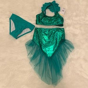 NWT Toddler 3 piece Mermaid Swimsuit